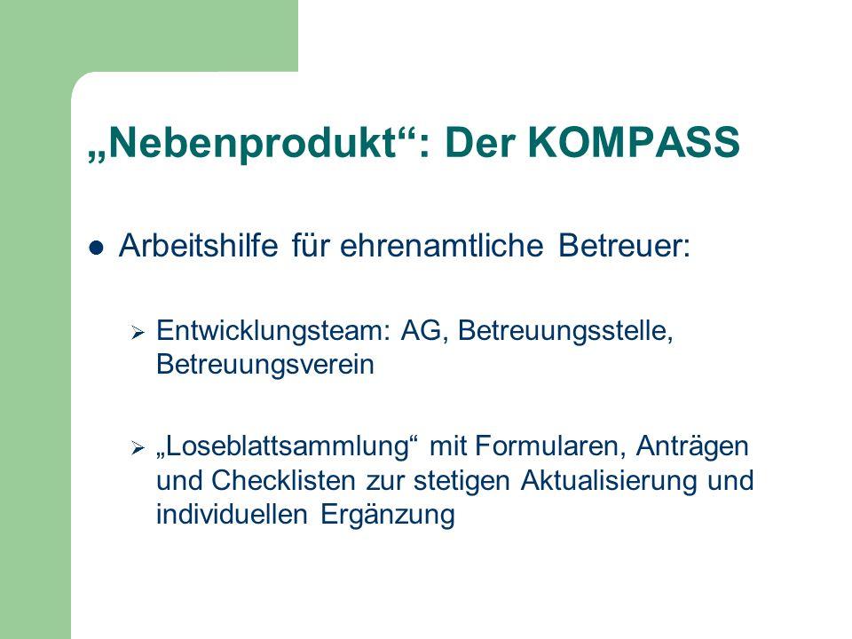 Nebenprodukt: Der KOMPASS Arbeitshilfe für ehrenamtliche Betreuer: Entwicklungsteam: AG, Betreuungsstelle, Betreuungsverein Loseblattsammlung mit Form