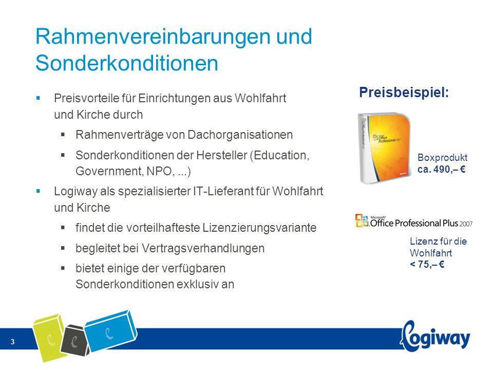 3 Rahmenvereinbarungen und Sonderkonditionen Preisvorteile für Einrichtungen aus Wohlfahrt und Kirche durch Rahmenverträge von Dachorganisationen Sond