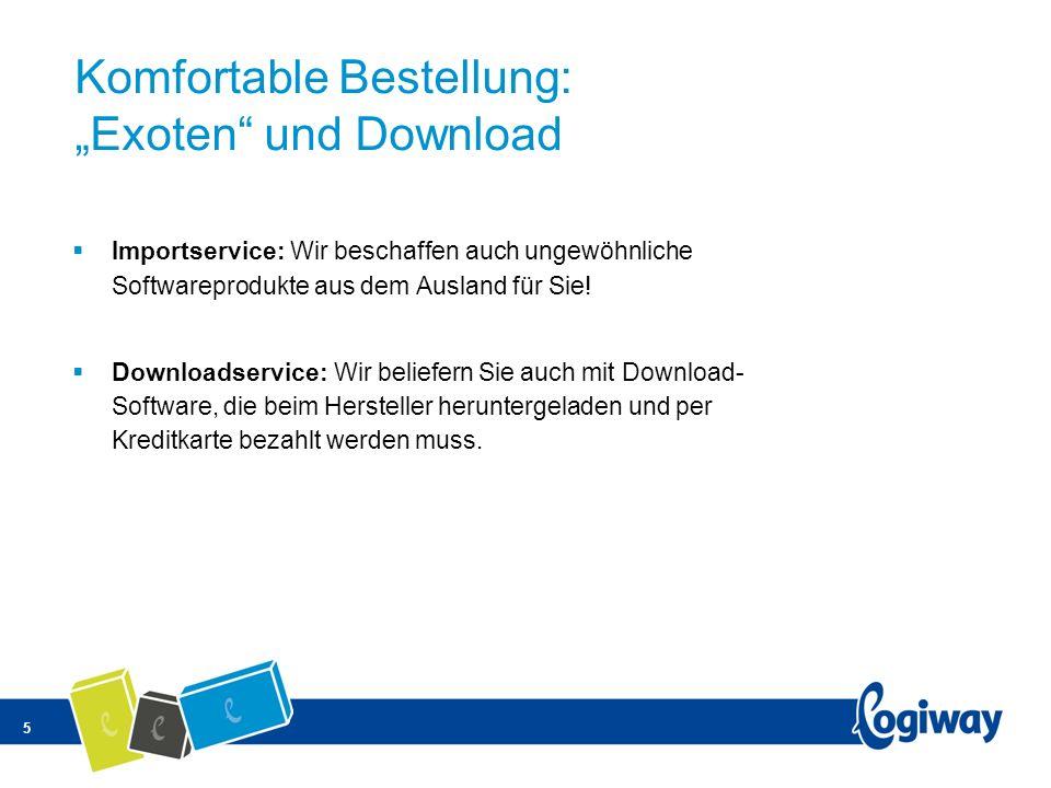 5 Komfortable Bestellung: Exoten und Download Importservice: Wir beschaffen auch ungewöhnliche Softwareprodukte aus dem Ausland für Sie! Downloadservi