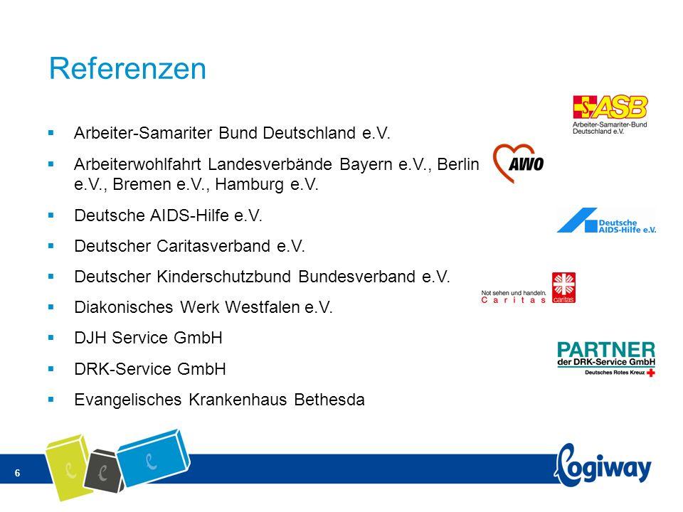 6 Referenzen Arbeiter-Samariter Bund Deutschland e.V. Arbeiterwohlfahrt Landesverbände Bayern e.V., Berlin e.V., Bremen e.V., Hamburg e.V. Deutsche AI