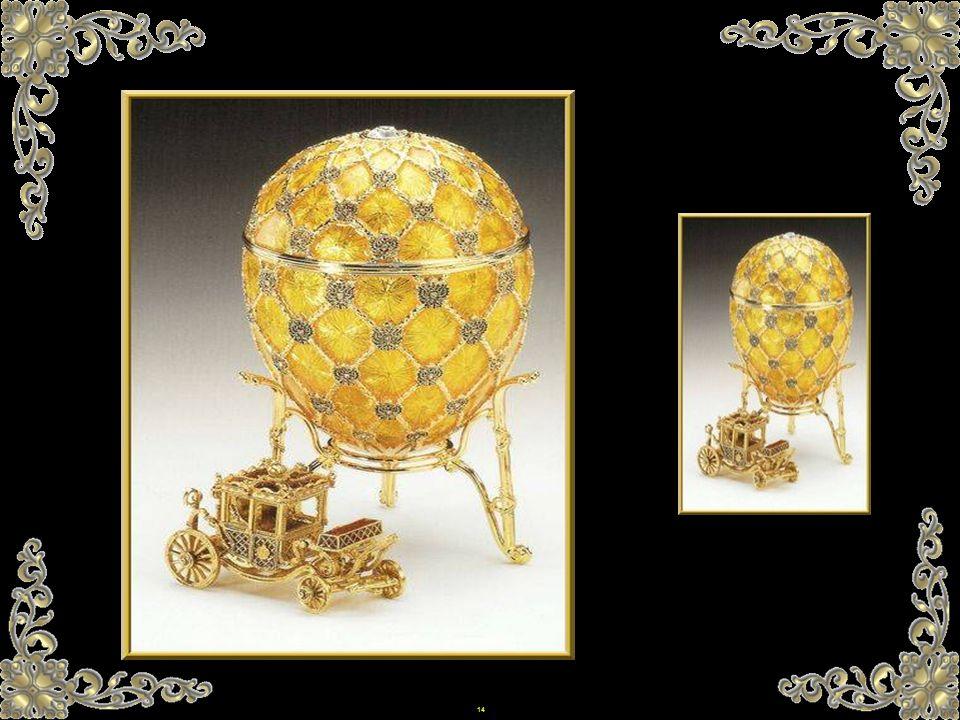 13 Die Kaiserlichen Ostereier sind die berühmtesten Schöpfungen des Carl Fabergé. Zwischen 1885 und 1916, gaben der Zar Alexander III und Nikolaus II