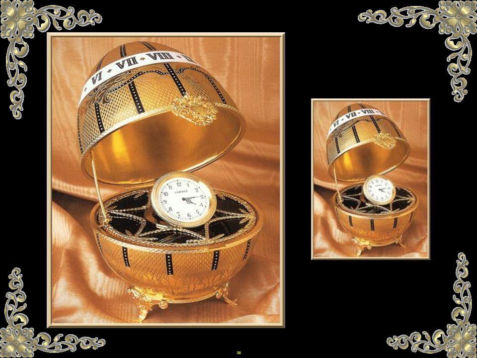 25 Carl Fabergé war daher Teil einer bereits festen Tradition. Sie wurde aber durch seine grenzenlose Phantasie und seine unendliche Kreativität berei
