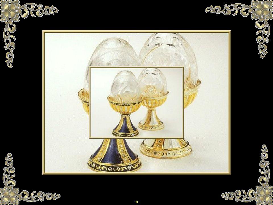49 Wenn 2 Eier fehlen... sind sie sicherlich im Besitz von Fabergé, der anonym bleiben möchte. Es ist durchaus verständlich, wenn man bedenkt, dass im