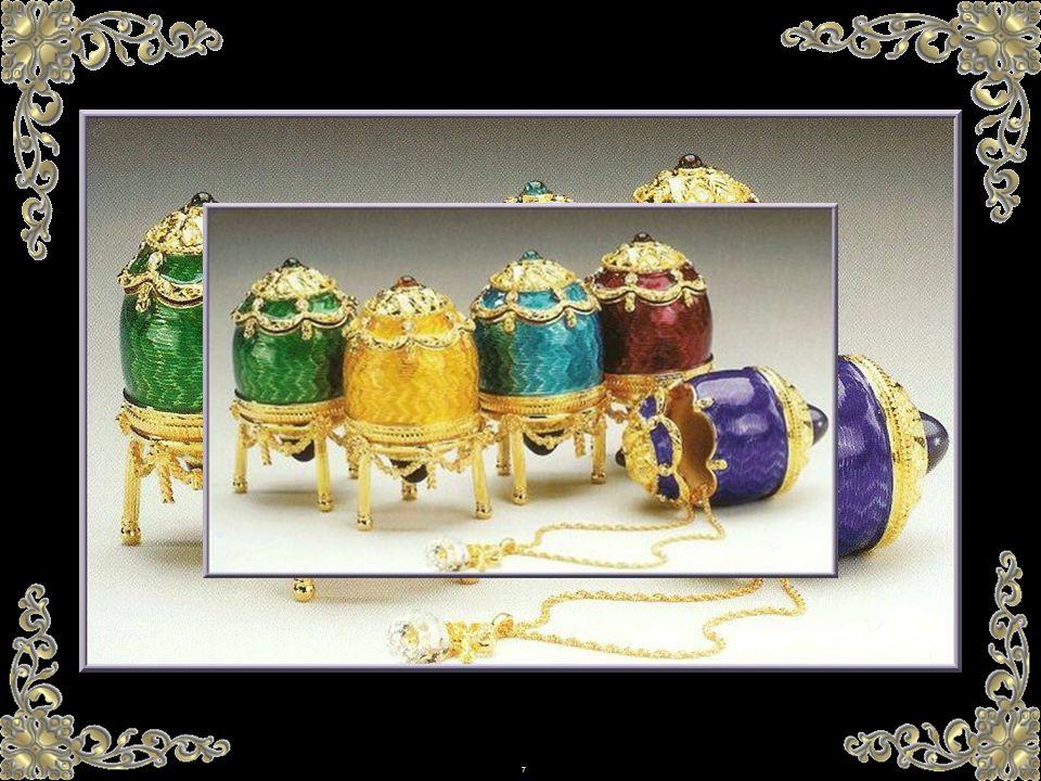 6 Hier wird das Osterfest durch den Austausch von Eiern und drei Küssen und Umarmung gefeiert. Von der Art, wie das Ei angeboten wird, hängt das Glück