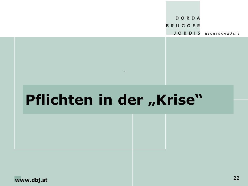 www.dbj.at 22 Pflichten in der Krise -