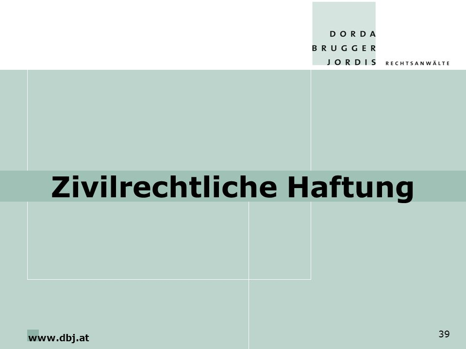 www.dbj.at 39 Zivilrechtliche Haftung