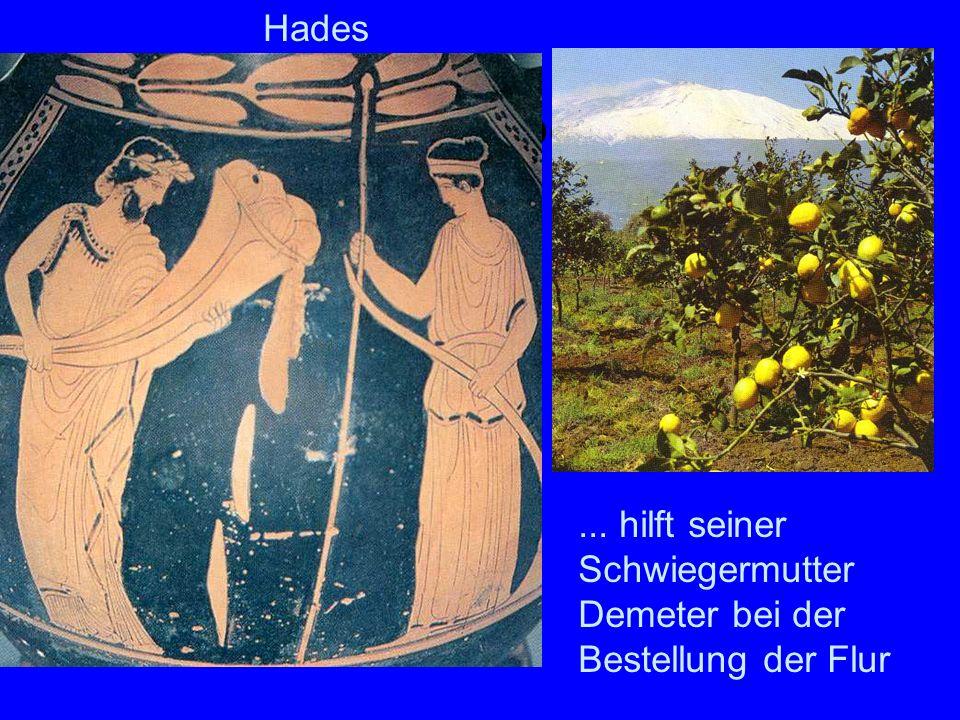 Hades arbeitet... hilft seiner Schwiegermutter Demeter bei der Bestellung der Flur Hades