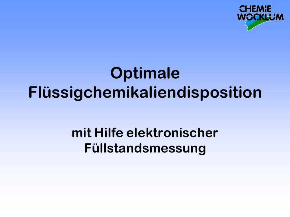 Optimale Flüssigchemikaliendisposition mit Hilfe elektronischer Füllstandsmessung