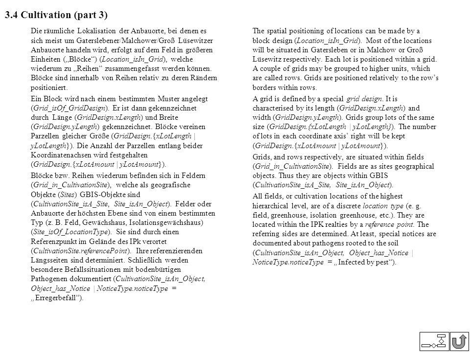 3.4 Cultivation (part 3) Die räumliche Lokalisation der Anbauorte, bei denen es sich meist um Gaterslebener/Malchower/Groß Lüsewitzer Anbauorte handel
