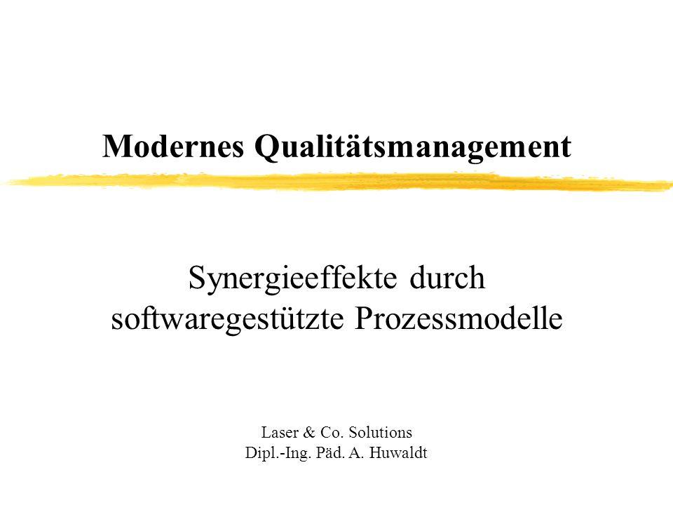 Synergieeffekte durch softwaregestützte Prozessmodelle Laser & Co.