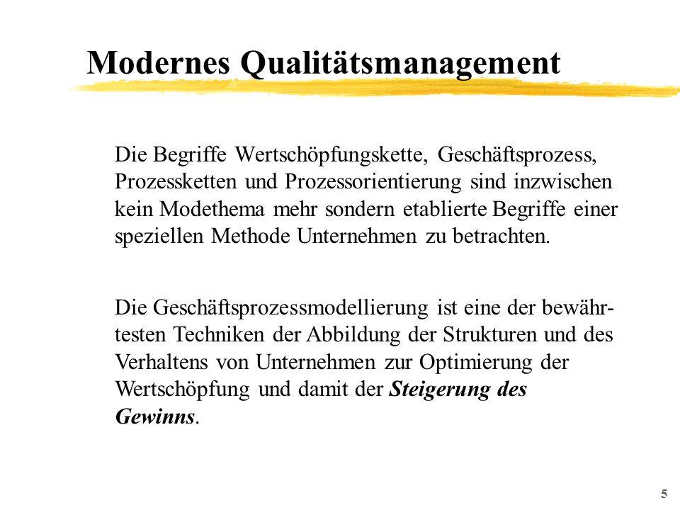 6 Modernes Qualitätsmanagement Ein Geschäftsprozess ist eine Abfolge von Tätigkeiten, die zusammengenommen einen Wert für den Kunden schaffen.
