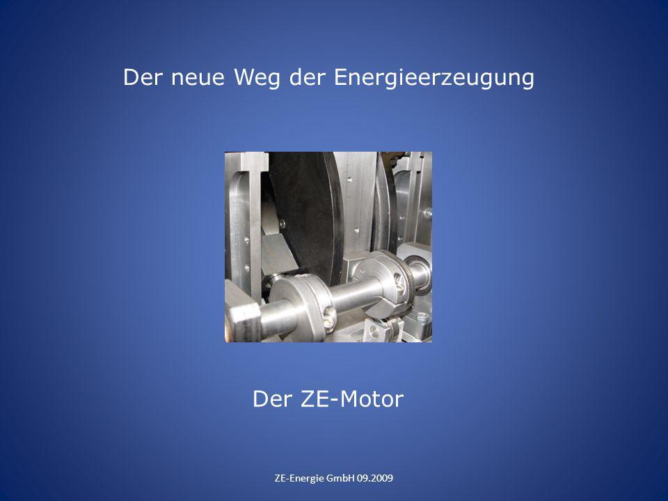 Der neue Weg der Energieerzeugung ZE-Energie GmbH 09.2009 Der ZE-Motor