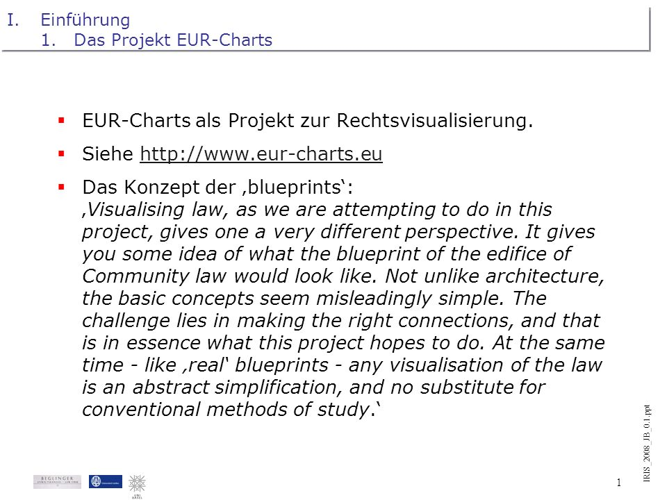 IRIS_2008_JB_0.1.ppt Internationales Rechtsinformatik Symposion IRIS 21.-23.2.2008, Universität Salzburg Das EUR-Charts-Projekt oder: The making of EC
