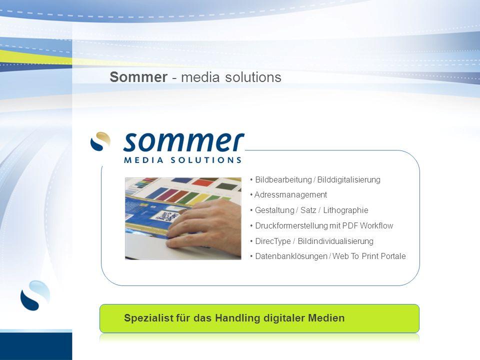 Bildbearbeitung / Bilddigitalisierung Adressmanagement Gestaltung / Satz / Lithographie Druckformerstellung mit PDF Workflow DirecType / Bildindividua