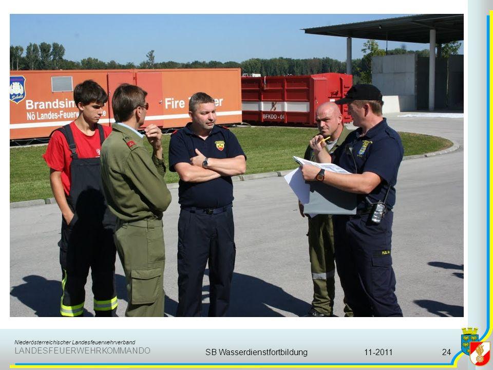Niederösterreichischer Landesfeuerwehrverband LANDESFEUERWEHRKOMMANDO 11-2011SB Wasserdienstfortbildung24