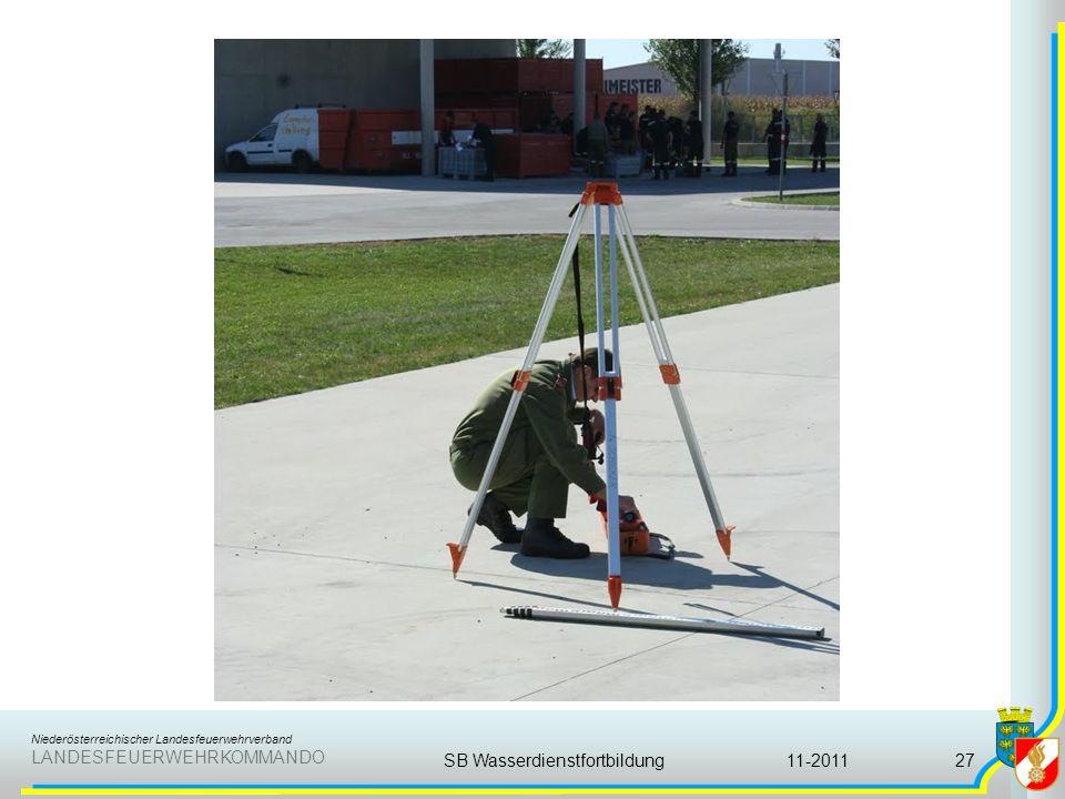 Niederösterreichischer Landesfeuerwehrverband LANDESFEUERWEHRKOMMANDO 11-2011SB Wasserdienstfortbildung27