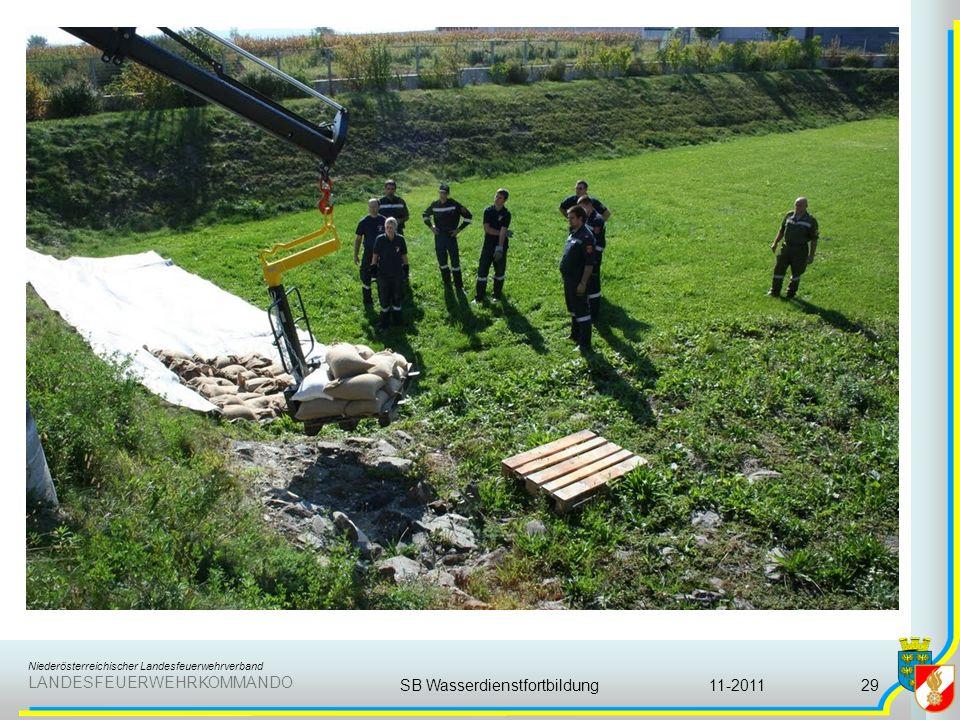 Niederösterreichischer Landesfeuerwehrverband LANDESFEUERWEHRKOMMANDO 11-2011SB Wasserdienstfortbildung29