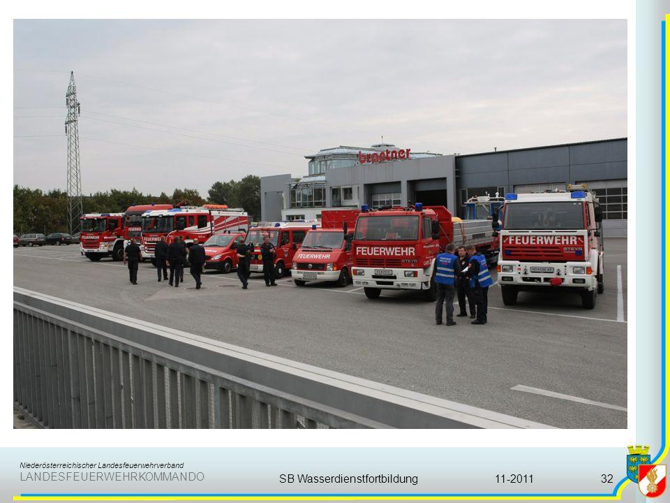 Niederösterreichischer Landesfeuerwehrverband LANDESFEUERWEHRKOMMANDO 11-2011SB Wasserdienstfortbildung32