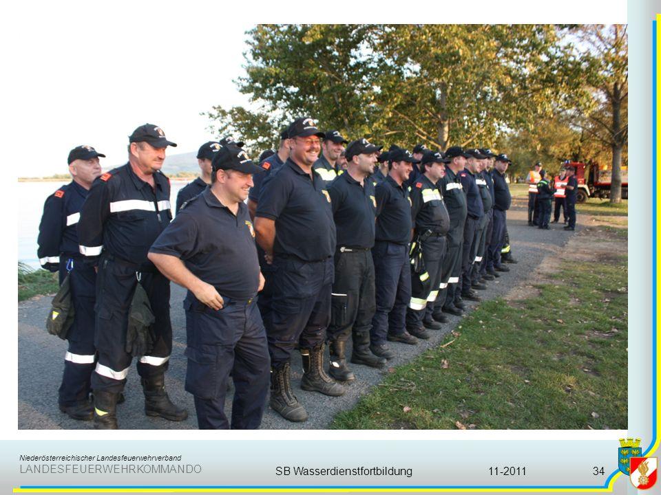 Niederösterreichischer Landesfeuerwehrverband LANDESFEUERWEHRKOMMANDO 11-2011SB Wasserdienstfortbildung34