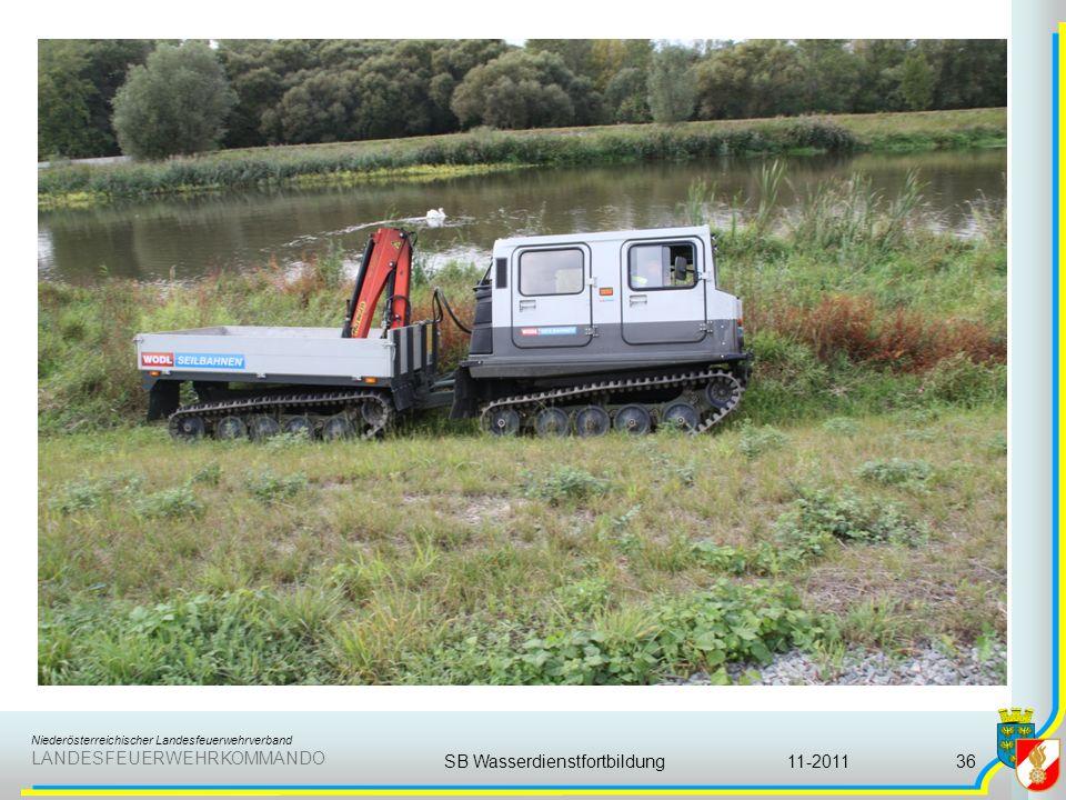 Niederösterreichischer Landesfeuerwehrverband LANDESFEUERWEHRKOMMANDO 11-2011SB Wasserdienstfortbildung36