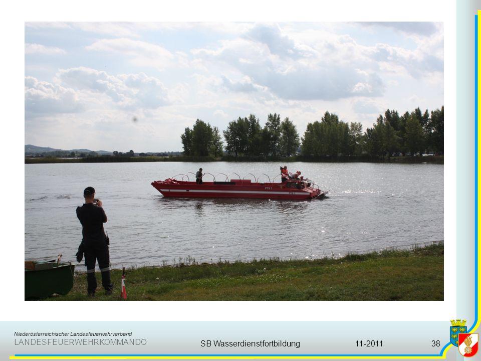Niederösterreichischer Landesfeuerwehrverband LANDESFEUERWEHRKOMMANDO 11-2011SB Wasserdienstfortbildung38