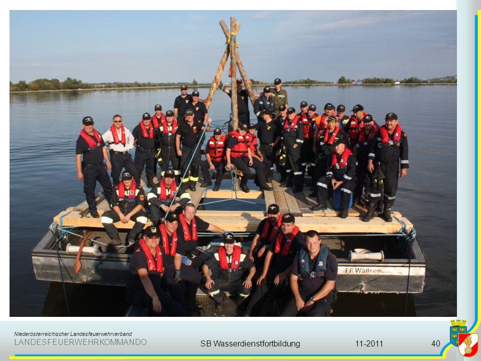Niederösterreichischer Landesfeuerwehrverband LANDESFEUERWEHRKOMMANDO 11-2011SB Wasserdienstfortbildung40