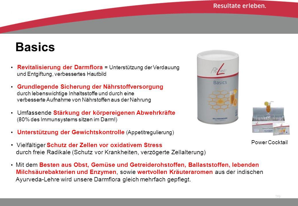 Basics 29 Grundlegende Sicherung der Nährstoffversorgung durch lebenswichtige Inhaltsstoffe und durch eine verbesserte Aufnahme von Nährstoffen aus de