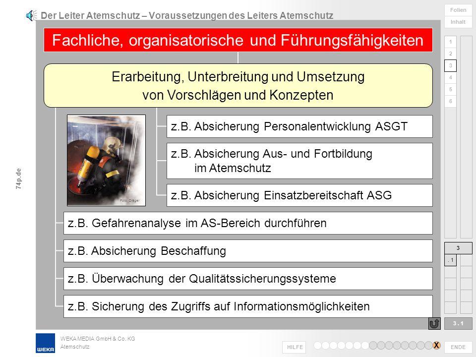 WEKA MEDIA GmbH & Co. KG Atemschutz ENDE HILFE 1 2 3 4 5 6 Folien Inhalt 74p.de bei Neubeschaffung, Ergänzung oder Austausch von Ausrüstungen vorhande