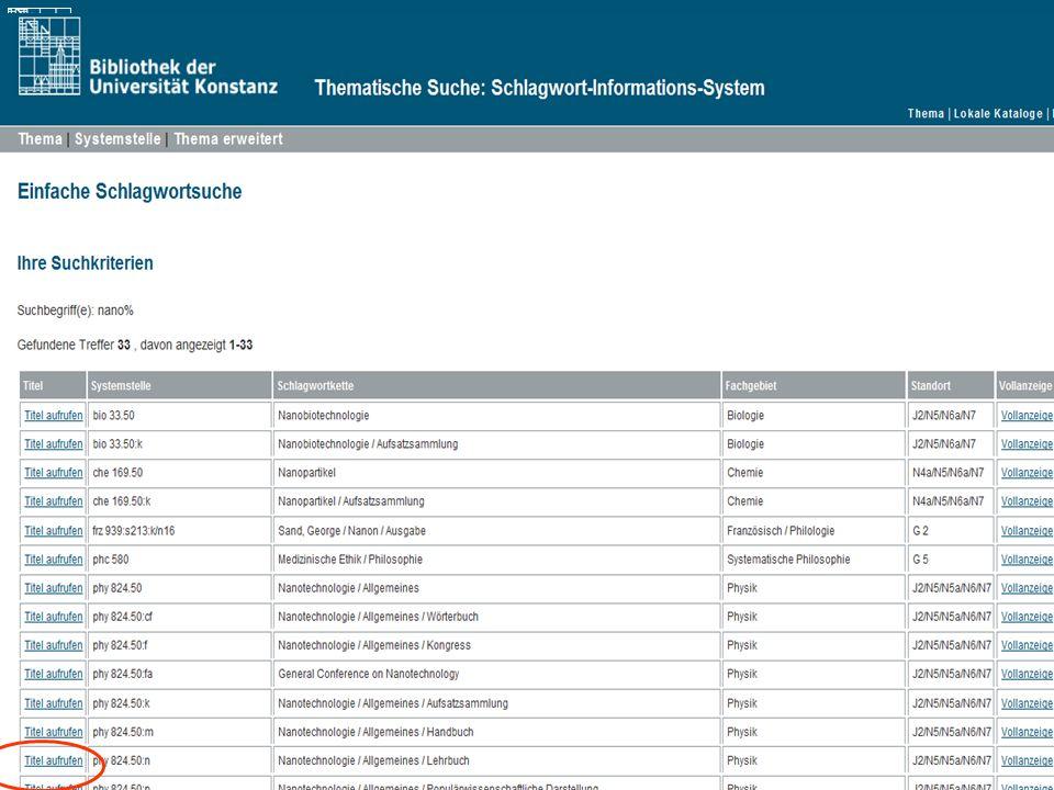 Einführung in die Bibliothek Angela Barth-Küpper Bibliothek der Universität Konstanz Thematische Suche