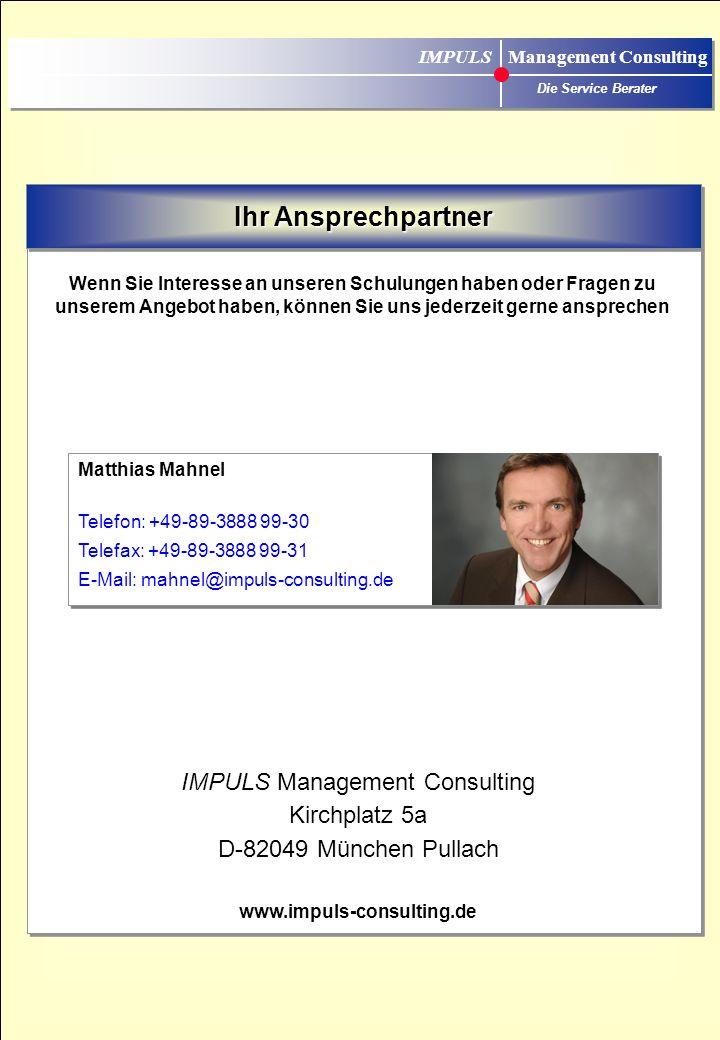 IMPULS Management Consulting Die Service Berater Auszug aus unserer Schulungs-Referenzliste Schulungs-Referenzliste UnternehmenBranche ABB MannheimGeb