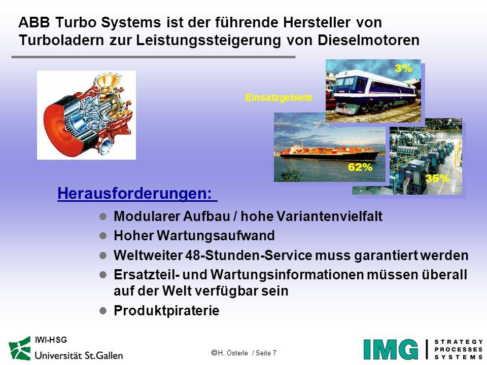 H. Österle / Seite 7 IWI-HSG ABB Turbo Systems ist der führende Hersteller von Turboladern zur Leistungssteigerung von Dieselmotoren l Modularer Aufba