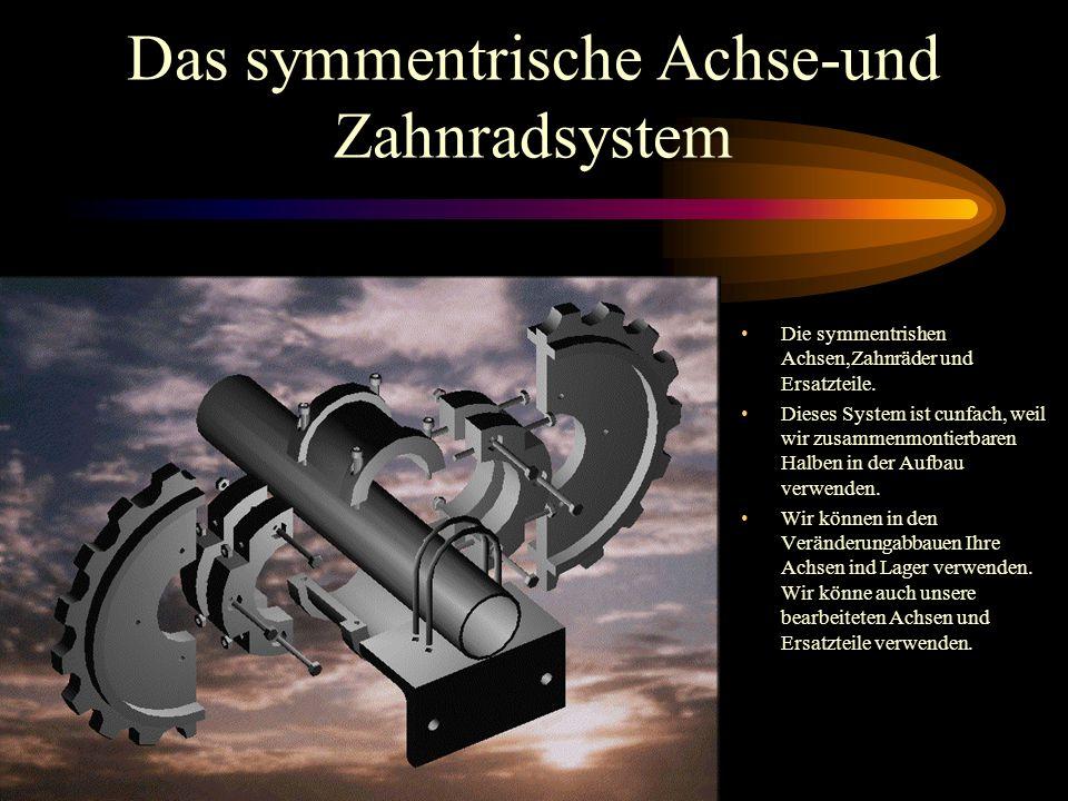 Das symmentrische Achse-und Zahnradsystem Die symmentrishen Achsen,Zahnräder und Ersatzteile. Dieses System ist cunfach, weil wir zusammenmontierbaren