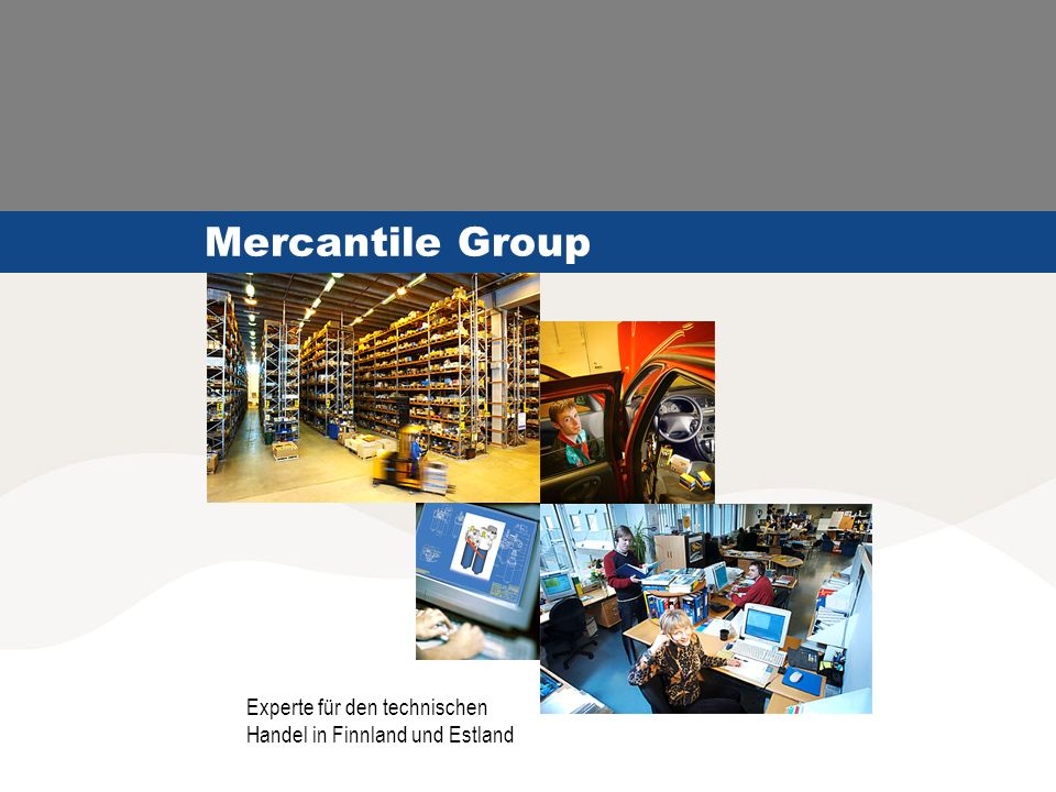 04.06.2004© Mercantile Group12 Mercantile Group AS Betriebe: Zentrale, Zentrallager, drei Laden und Reparaturwekstätten in Tallinn, Laden und Reparaturwerkstatt in Pärnu.