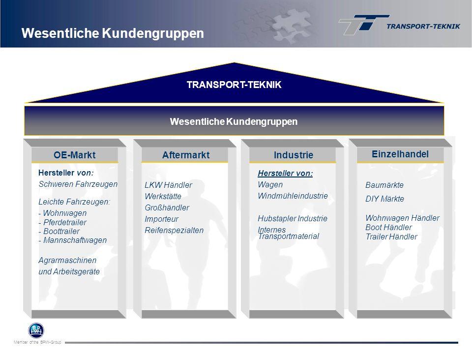 Member of the BPW-Group Hersteller von: Schweren Fahrzeugen Leichte Fahrzeugen: - Wohnwagen - Pferdetrailer - Boottrailer - Mannschaftwagen Agrarmasch