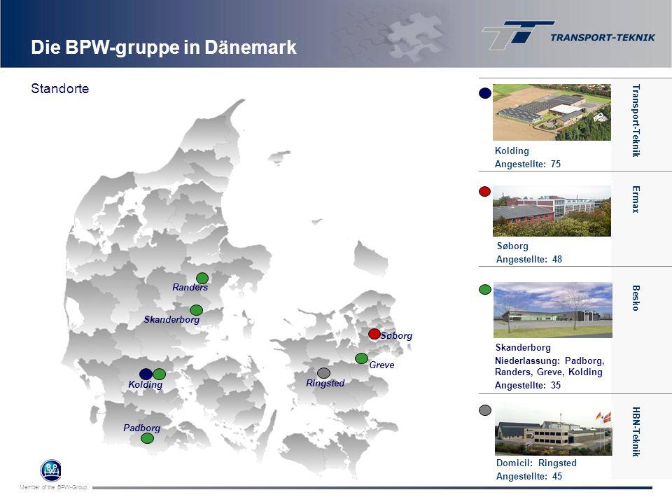 Member of the BPW-Group Die BPW-gruppe in Dänemark Transport-Teknik Greve Randers Skanderborg Kolding Padborg Ringsted Søborg Transport-Teknik Kolding