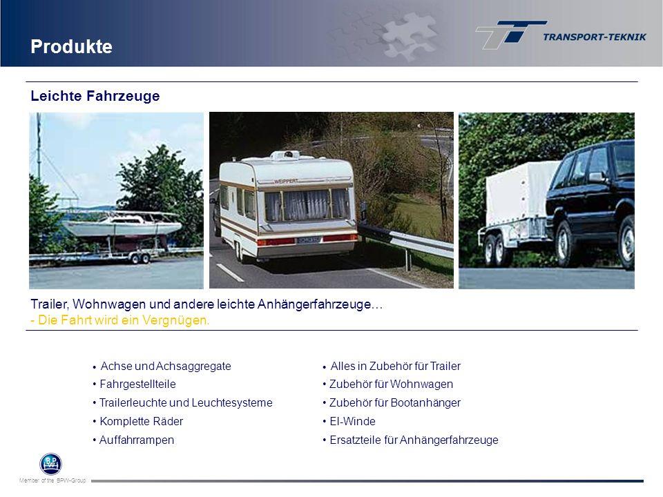 Member of the BPW-Group Achse und Achsaggregate Fahrgestellteile Trailerleuchte und Leuchtesysteme Komplette Räder Auffahrrampen Produkte Trailer, Woh