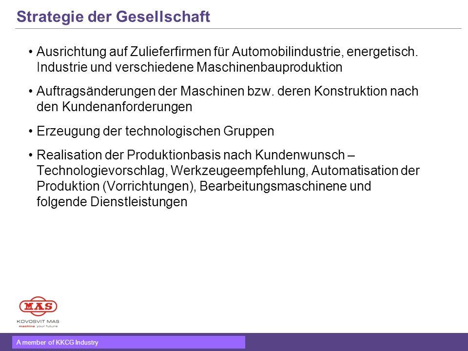 A member of KKCG Industry Umsatzentwicklung