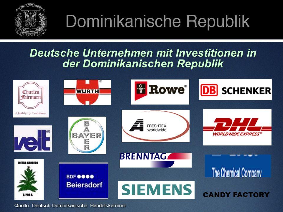 Deutsche Unternehmen mit Investitionen in der Dominikanischen Republik CANDY FACTORY Quelle: Deutsch-Dominikanische Handelskammer