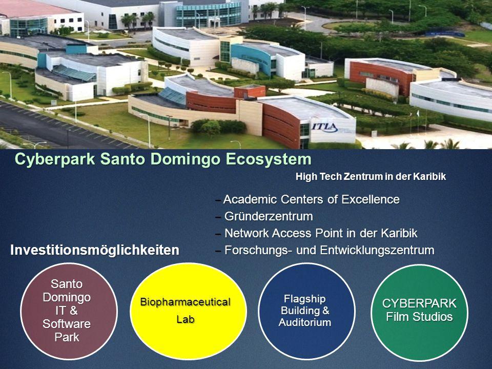 Cyberpark Santo Domingo Ecosystem High Tech Zentrum in der Karibik – Academic Centers of Excellence – Gründerzentrum – Network Access Point in der Kar