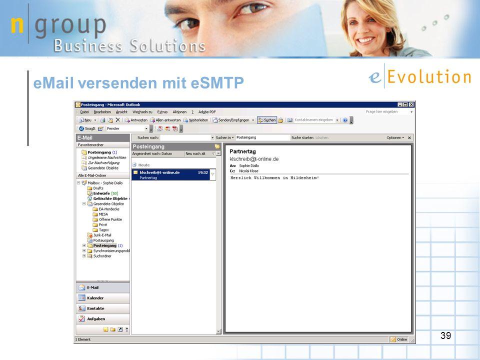 39 eMail versenden mit eSMTP