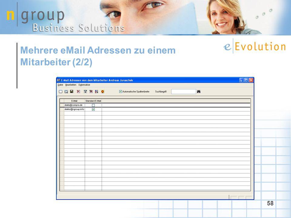 58 Mehrere eMail Adressen zu einem Mitarbeiter (2/2)