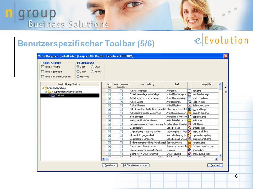 6 Benutzerspezifischer Toolbar (5/6)