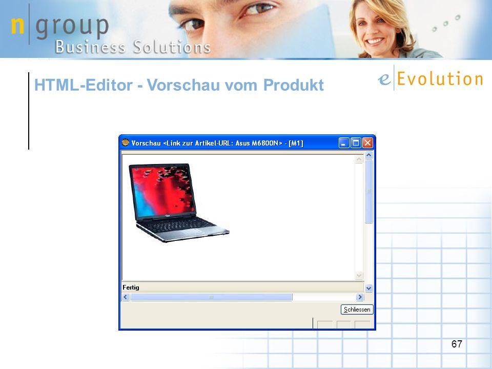 67 HTML-Editor - Vorschau vom Produkt