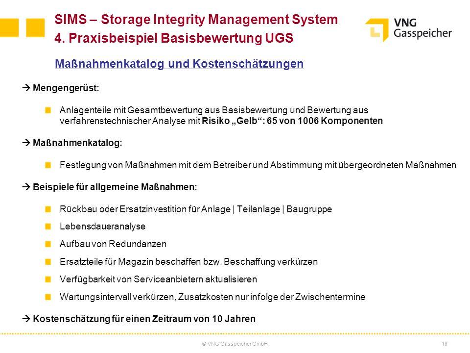 © VNG Gasspeicher GmbH19 SIMS – Storage Integrity Management System 4.
