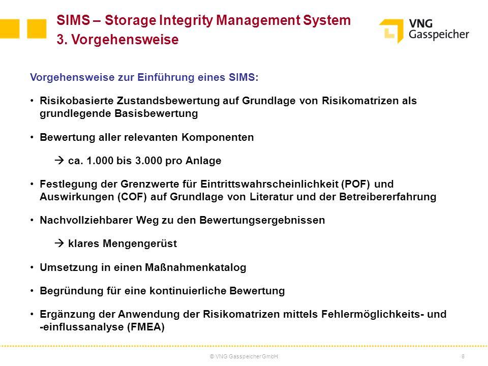 © VNG Gasspeicher GmbH8 Vorgehensweise zur Einführung eines SIMS: Risikobasierte Zustandsbewertung auf Grundlage von Risikomatrizen als grundlegende B
