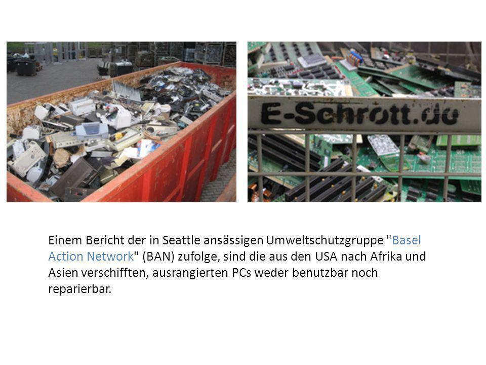 Wiederverwendung der Geräte oder einzelner Komponenten Stoffliche Verwertung der enthaltenen Metalle oder Kunststoffe Reparieren wenn es möglich ist Recycling-Möglichkeiten