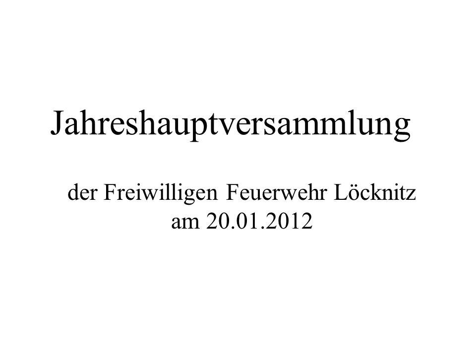 Jahreshauptversammlung der Freiwilligen Feuerwehr Löcknitz am 20.01.2012