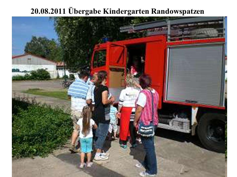 20.08.2011 Übergabe Kindergarten Randowspatzen