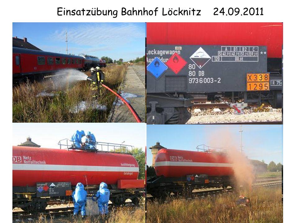 Einsatzübung Bahnhof Löcknitz 24.09.2011