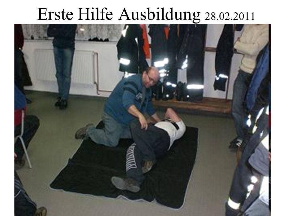 Erste Hilfe Ausbildung 28.02.2011